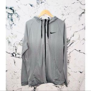 Nike Therma Zip Up Hoodie Grey NEW